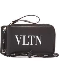 Valentino - Vltn Logo Neck Wallet - Lyst