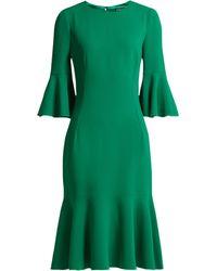 Dolce & Gabbana - Fluted Hem Cady Midi Dress - Lyst