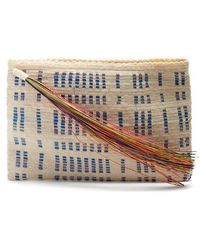 Sophie Anderson - Lia Woven-toquilla Clutch - Lyst