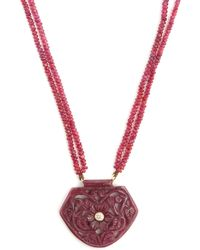 Jade Jagger - Diamond, Ruby & Yellow-gold Necklace - Lyst