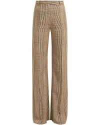 Golden Goose Deluxe Brand - Checked High Rise Trousers - Lyst