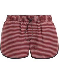 The Upside - Rum And Raisin Linen-blend Shorts - Lyst