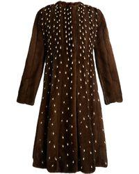 Altuzarra - Belloza Faux Pearl-embellished Fur Coat - Lyst
