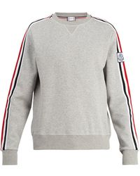 Moncler Gamme Bleu - Striped Sleeve Cotton Blend Sweater - Lyst