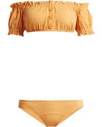 Lisa Marie Fernandez Leandra Off The Shoulder Bikini