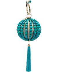Rosantica By Michela Panero Billie Beaded Tassell Clutch Bag - Blue