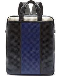 Bottega Veneta - Sac en cuir intrecciato rayé convertible - Lyst