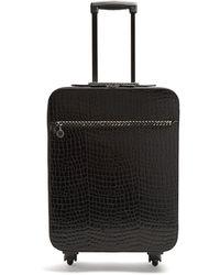 Stella McCartney - Falabella Crocodile-effect Suitcase - Lyst