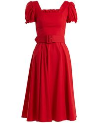 STAUD - Maryann Cotton-blend Dress - Lyst