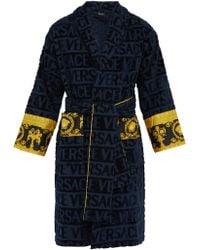 Versace - Peignoir coton à jacquard logo I Love Baroque - Lyst