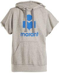 Étoile Isabel Marant - Isabel Marant Étoile Milesy Logo Appliqué Cotton Blend Jumper - Lyst