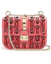 Valentino - X Zandra Rhodes Lock Small Leather Shoulder Bag - Lyst