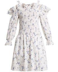 Rebecca Taylor - - Francine Off The Shoulder Floral Print Dress - Womens - White Print - Lyst