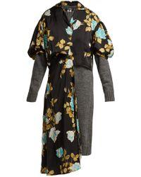 Junya Watanabe - Floral Jersey Jumper Dress - Lyst