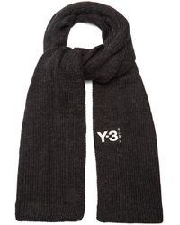 Y-3 - Ribbed-edge Knit Scarf - Lyst