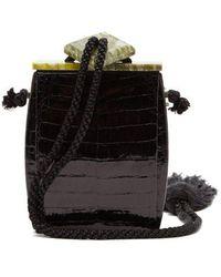 The Row - Inrou Crocodile-leather Clutch - Lyst