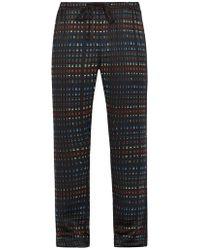 Meng - Rectangle-print Silk-satin Pyjama Trousers - Lyst