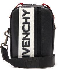 Givenchy Sac bandoulière en cuir à appliqué logo MC3 - Noir