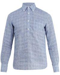 Glanshirt | Eric Checked Linen Shirt | Lyst