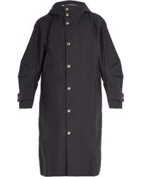 Thom Browne - Articulated Sleeve Oversized Hooded Trench Coat - Lyst