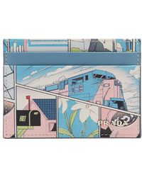 Prada   Comic-print Cardholder   Lyst