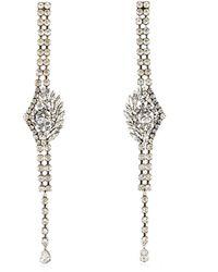 Sonia Rykiel - Crystal Embellished Drop Earrings - Lyst