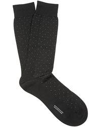 Pantherella - Gadsbury Pin-dot Cotton-blend Socks - Lyst