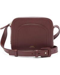 A.P.C. - Louisette Leather Cross Body Bag - Lyst