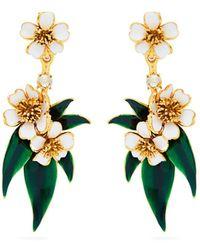 Oscar de la Renta - Delicate Flower Clip-on Earrings - Lyst