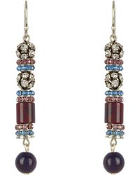 Etro - Crystal And Bead-embellished Earrings - Lyst