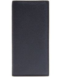 Valextra - Vertical Bi Fold Grained Leather Wallet - Lyst