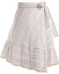 Apiece Apart - Tamarind Cotton Blend Asymmetric Wrap Skirt - Lyst