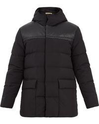 Bottega Veneta | Hooded Intrecciato Leather-trim Quilted Down Coat | Lyst