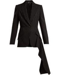 Alexander McQueen - Veste en laine à double boutonnage et rayures - Lyst