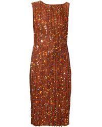 Nina Ricci - Sequin-embellished Pleated Dress - Lyst