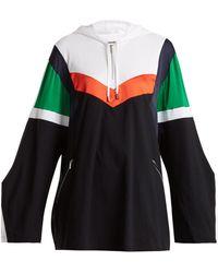Koche - Sweat-shirt à capuche colour block en piqué - Lyst