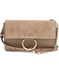 Chloé Faye Mini Leather And Suede Cross Body Bag