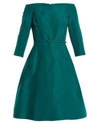 Oscar de la Renta - Off-the-shoulder Silk-faille Dress - Lyst
