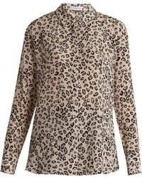Altuzarra - Chika Leopard Print Silk Crepe De Chine Shirt - Lyst