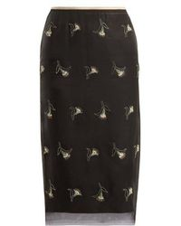 N°21 - Sequin And Bead-embellished Pencil Skirt - Lyst