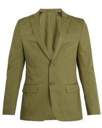 Officine Generale - Single-breasted Notch-lapel Cotton-twill Blazer - Lyst