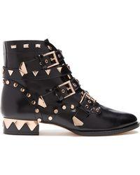 Sophia Webster - Riko Stud-embellished Leather Ankle Boots - Lyst