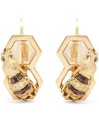 Delfina Delettrez - Diamond, Sapphire & Yellow-gold Earrings - Lyst