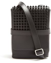 Christian Louboutin - Benech Small Spike-embellished Cross-body Bag - Lyst