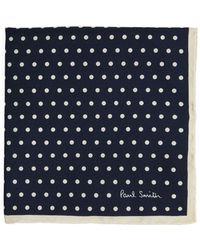Paul Smith - Polka Dot Print Silk Pocket Square - Lyst