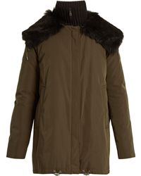 Moncler - Agapanthus Fur Trimmed Down Filled Parka - Lyst