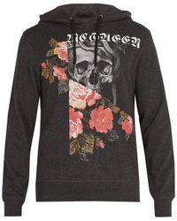 Free Shipping Shop Sale Cheap Online Patchwork Printed Cotton-jersey Sweatshirt Alexander McQueen 06isALkrk0