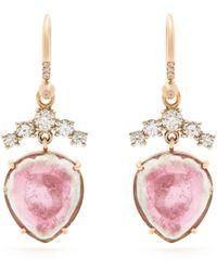 Irene Neuwirth | Diamond, Tourmaline & Rose-gold Earrings | Lyst