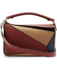 Loewe - Puzzle Tri-colour Leather Bag - Lyst