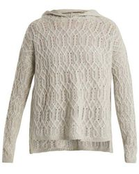 Nili Lotan - Belize Cable-knit Cashmere Hooded Sweater - Lyst